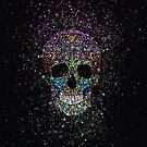 Glitter ColorSkull by TinaGraphics