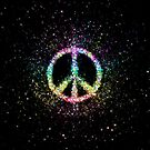 Glitter Flower Peace Sign by TinaGraphics
