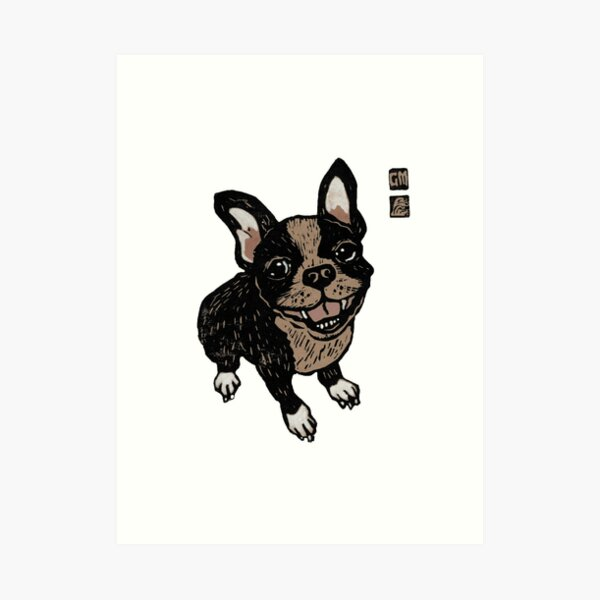 French Bulldog in other colours Art Print