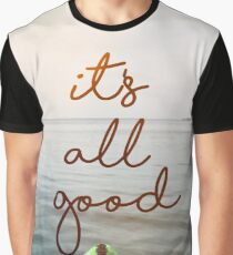 kayak and feet with It's All good text Graphic T-Shirt