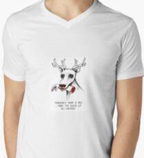 Rudolph das tote Nasen-Ren T-Shirt mit V-Ausschnitt