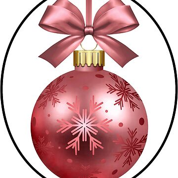 Pink Holiday Ornament by hlynn89