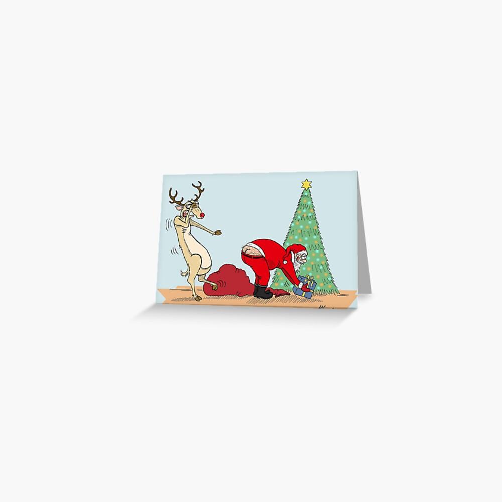 Weihnachtsmanns Crack Grußkarte