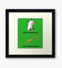 Love Animals Eat Vegetables Framed Print