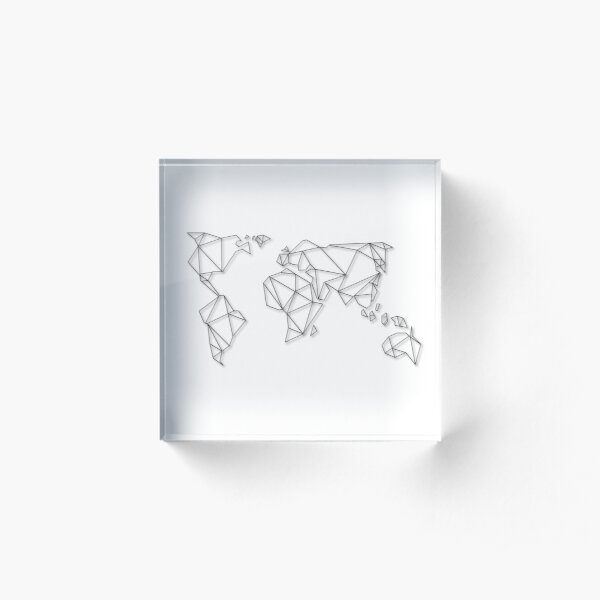 Geometric Map Acrylic Block