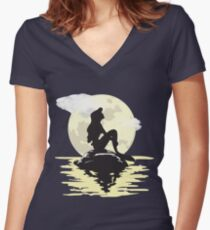 Under the Moonlight Women's Fitted V-Neck T-Shirt