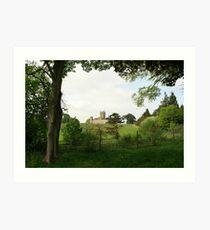 Rolling hills towards Downton Abbey Art Print