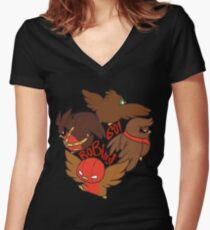The Robin Circle!  Women's Fitted V-Neck T-Shirt