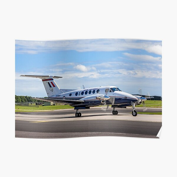 Beechcraft King Air B200GT ZK460/U SERCO/3FTS Poster