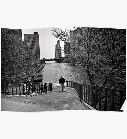 Running Man - Chicago Poster