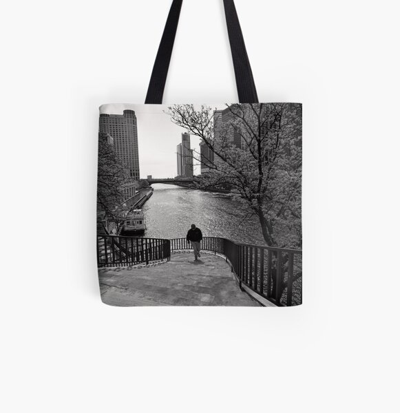 Running Man - Chicago All Over Print Tote Bag