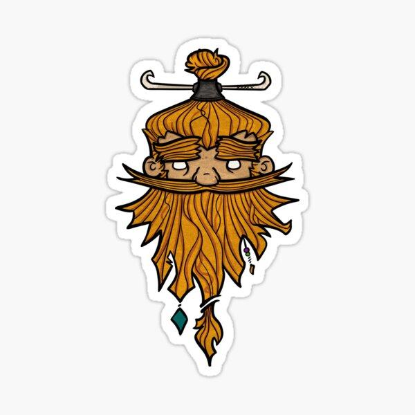 Sweet Nordic Blond Viking Sticker