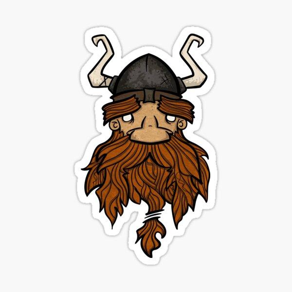Sweet Nordic Brown Viking Sticker