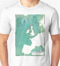 UK Shipping Forecast Map Unisex T-Shirt