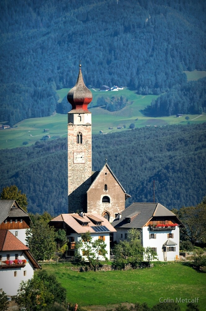 South Tyrolean Church by Colin Metcalf