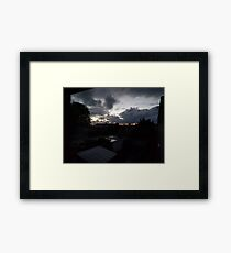 October Sky - Early in the morning Framed Print