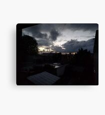 October Sky - Early in the morning Canvas Print