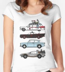 Iconic movie cars Women's Fitted Scoop T-Shirt
