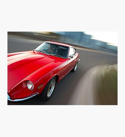 Red Datsun 260Z rig shot Photographic Print