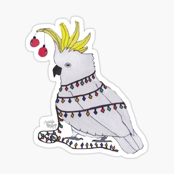 Christmas Cockatoo Sticker