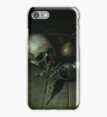 Still Life With Human Skull And Silver Chalice iPhone Case/Skin