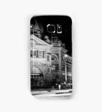 Streaking past Flinders Street Station - Melbourne Australia Samsung Galaxy Case/Skin
