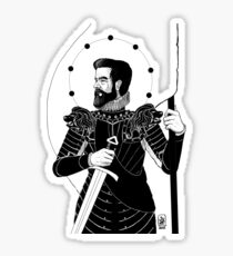 The King in Arms Sticker
