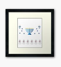 Ugly Hanukkah Sweater, Hanukkah Sweater Framed Print