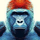 Gorilla - Colorful Animals by raquelcatalan