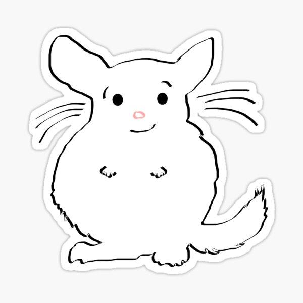 Chincu smiling Sticker