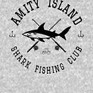 «Club de pesca de tiburones Amity Island» de AngryMongo