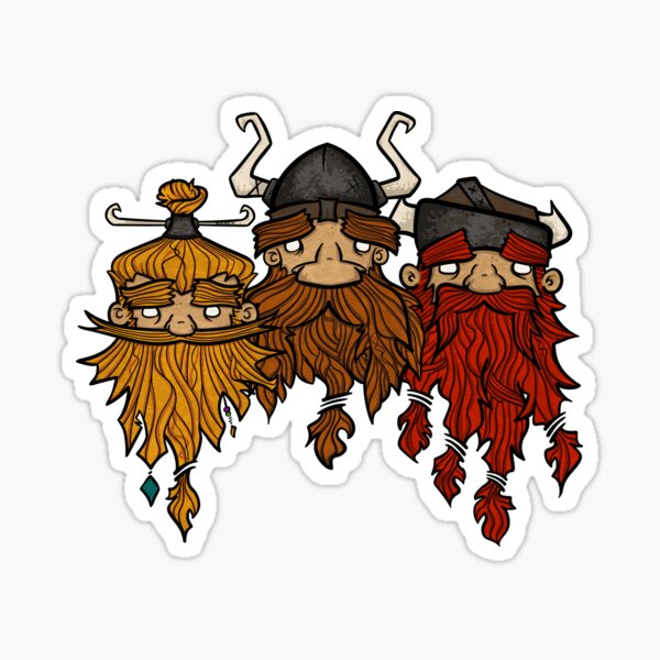 Sweet Nordic Viking Brothers Sticker