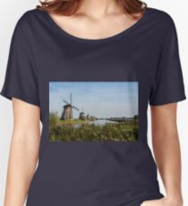 The windmills of Kinderdijk Women's Relaxed Fit T-Shirt