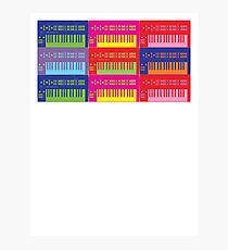 Pop Art Synthesizers Photographic Print