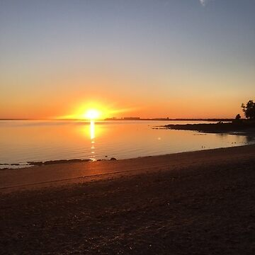 Sunrise over Barney Point beach, Gladstone, Queensland, Australia. by junjari