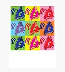 Pop Art Speaker Cones Photographic Print
