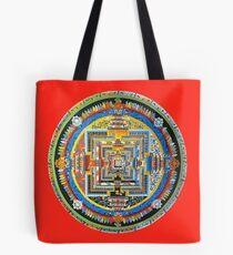 Tibetan Mandala red Tote Bag