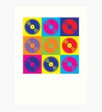 Pop Art Vinyl Records Art Print