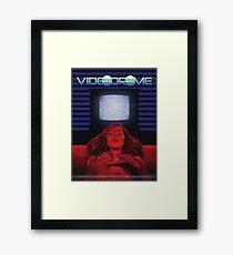 Girl and TV Framed Print