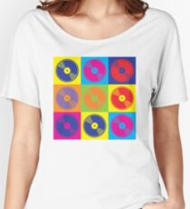 Pop Art Vinyl Records 2 Women's Relaxed Fit T-Shirt