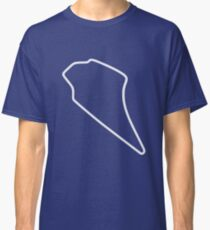 Knockhill Racing Circuit [outline] Classic T-Shirt
