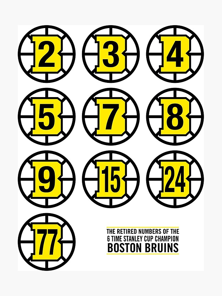 0abc7491f Retired Numbers - Boston Bruins