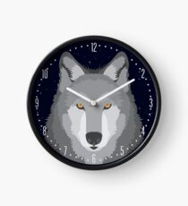 Wolf Head Design Clock