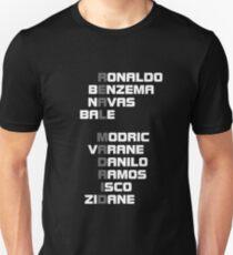 real madrid spelt name player 3 Unisex T-Shirt