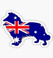 Australian Flag - Border Collie Sticker