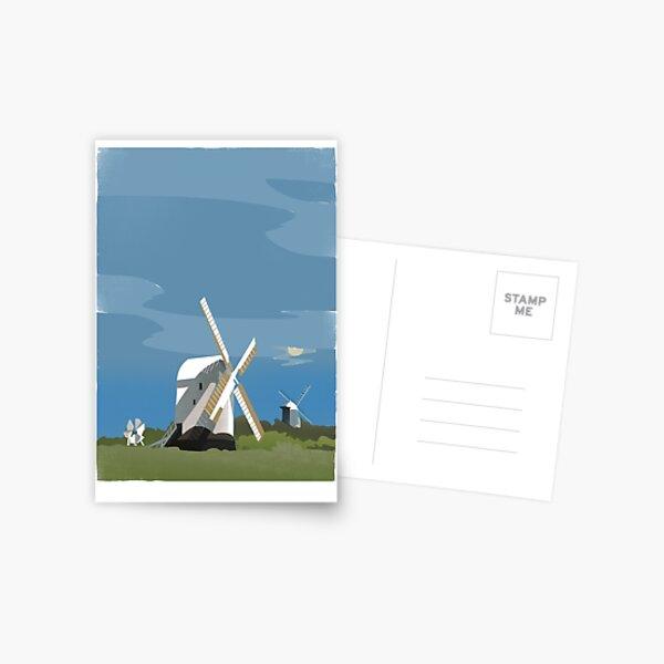 Jack and Jill Windmills Postcard