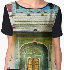 Palace courtyard facade Women's Chiffon Top