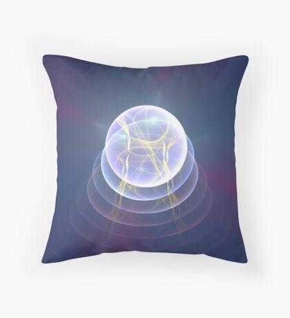 Planet Light #Fractal Art Throw Pillow