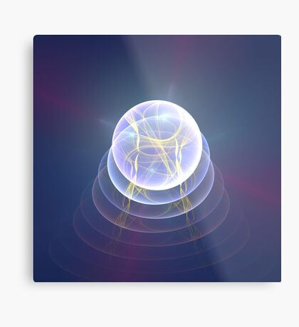 Planet Light #Fractal Art Metal Print