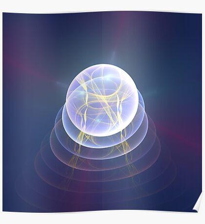Planet Light #Fractal Art Poster